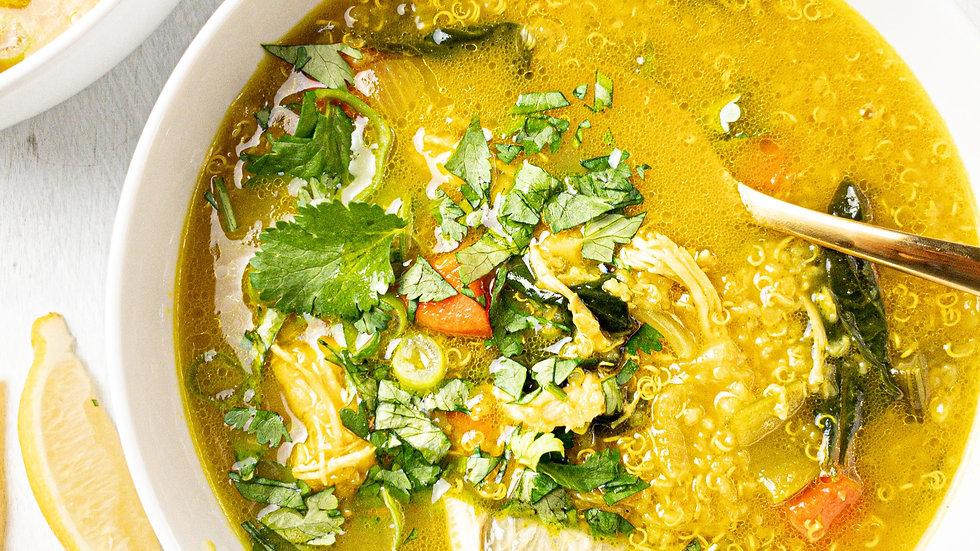 Turmeric Chicken & Quinoa Soup