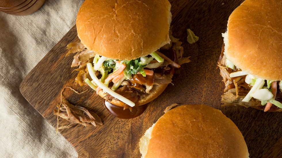 Pulled Chicken Sandwiches with Apple BBQ Sauce