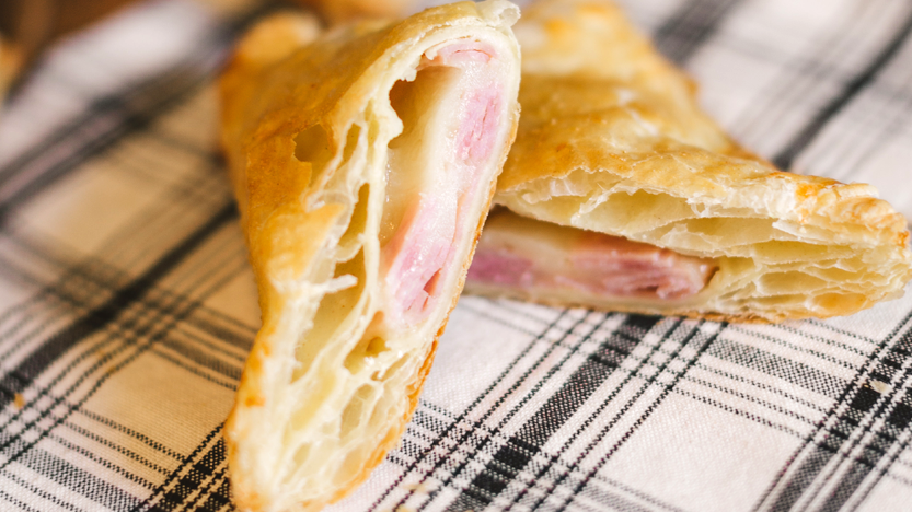 Ham and Cheese Triangles
