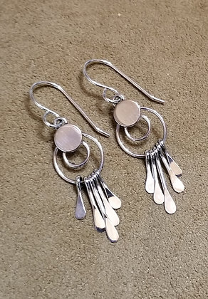 Sterling Silver Earrings by Navajo Artist Pauline Armstrong