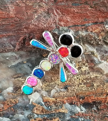 Zuni Dragonfly Pin/Pendant by Emma Edaakie
