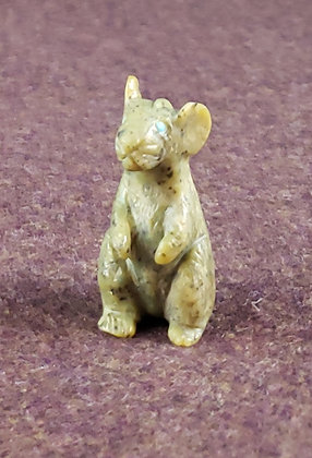 Lance Cheama - Zuni Serpentine Mouse Carving