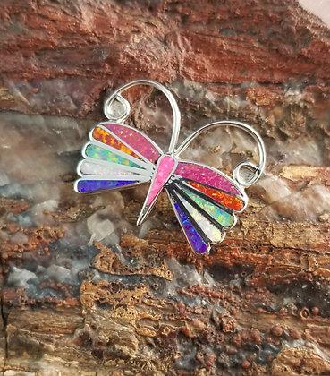 Zuni Butterfly Pin/Pendant by Emma Edaakie