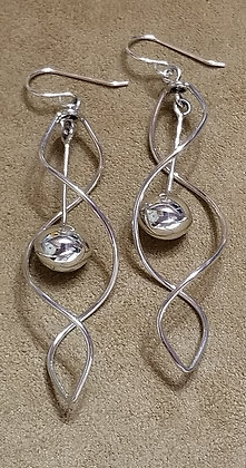 Sterling Silver Earrings by Navajo Artist Edith Kee