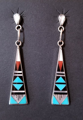 Zuni Inlayed Earrings by K.D. Boone