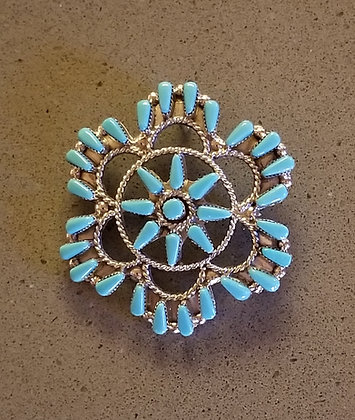 Sleeping Beauty Turquoise Pin/Pendant by Vera Halusewa