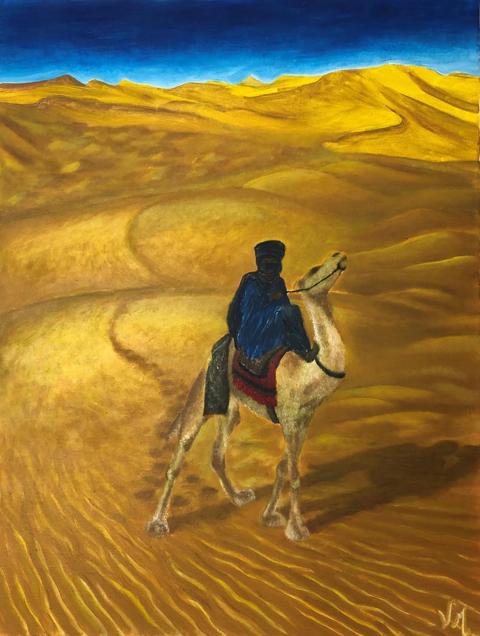 Méharé - huile sur toile - 50 x 70 cm