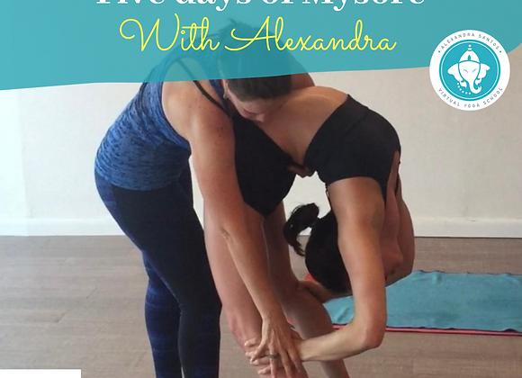 Five days of Mysore with Alexandra