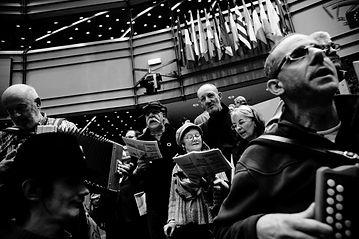 La Chorale Au Clair de la Rue de Nantes en concert au Parlement Européen de Bruxelles