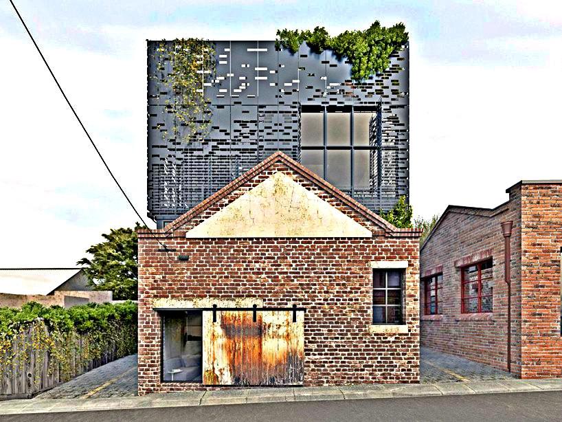 Architecture DKO à Melbourne Façade principale