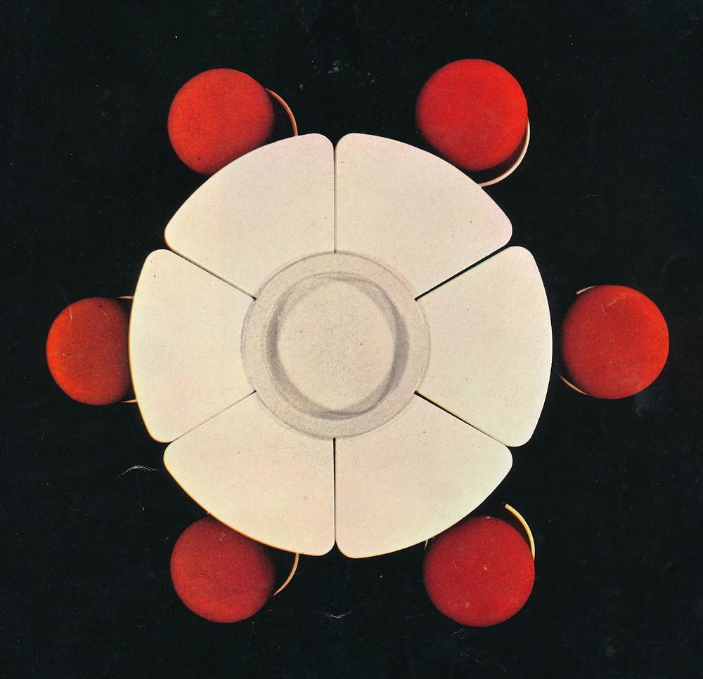 Morgaine set table vue dessus