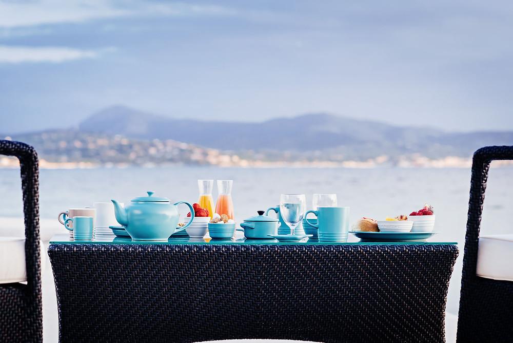 Collection Bleu Riviera de Le Creuset