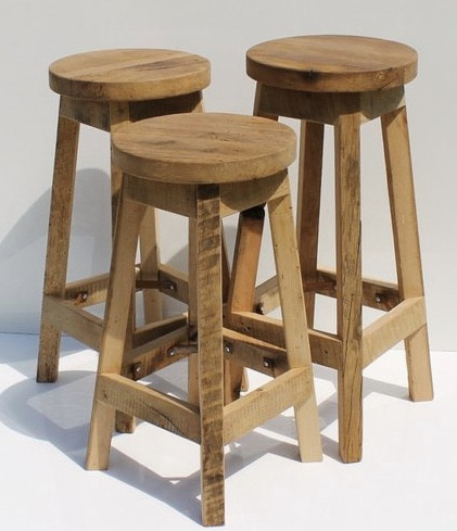 MODERN FARMHOUSE Must Have: Reclaimed Wood. Rustic reclaimed Oak Stool from Keeriah. More inspo and review at lovinglygray.com.