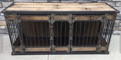 MODERN FARMHOUSE Must Have: Reclaimed Wood. Rustic Industrial reclaimed wood dog kennel from Keeriah. More inspo and review at lovinglygray.com.