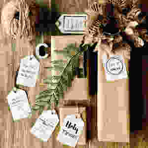 FREE FESTIVE GIFT-TAG PRINTABLE! Creating a Rustic Modern Christmas just got easier with this freebie! This non-traditional style printable makes these gift-tags a truly unique addition to any gift. Inspired by Christmas Vacation and some classic Holiday elements there is something for everyone. Mele Kalikimaka! Check out LOVINGLYGRAY.com for the download!