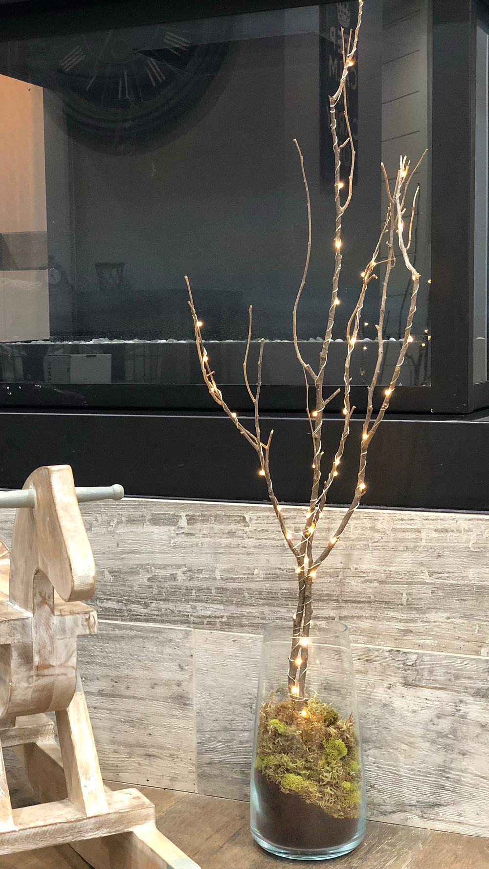 RUSTIC MODERN CHRISTMAS: Restoration Hardware Inspired DIY. Creating a winter decor staple for a fraction of the cost. Check it out at LOVINGLYGRAY.com or @lovinglygraydesign on Instagram. Happy Holidays!
