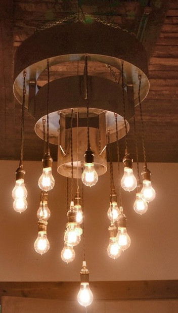 MODERN FARMHOUSE Must Have: Reclaimed Wood. Rustic Industrial Lighting from Keeriah. More inspo and review at lovinglygray.com.
