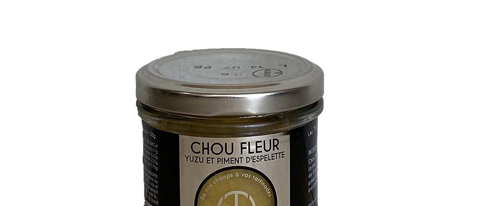 Tartinade Chou-fleur Yuzu et Piment d'Espelette - 100 gr