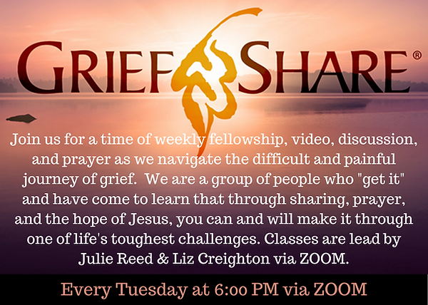 Join us for a time of weekly fellowship,