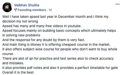 APSEd review by Vaibhav Shukla