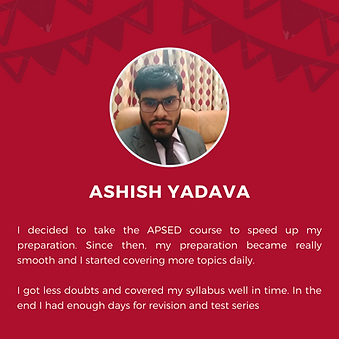 APSEd premium course review by Ashish Yadava