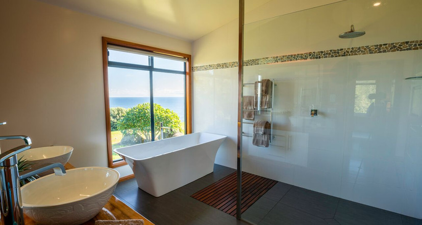 Main bathroom with a view