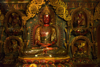 34. Old Buddha statue at the Pelkor Chod