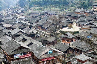 42. Dong minority village with Drum Towe