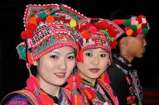 01. Yi minority girls from Shiping, Yunna