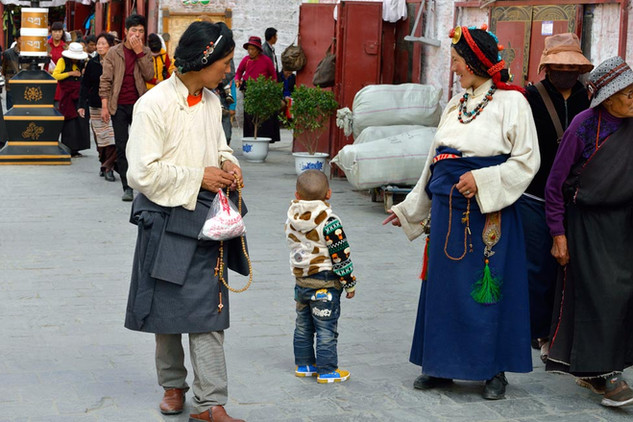 22. Young couple from Estern Tibet weari