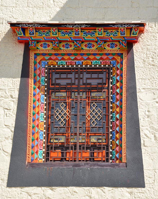 13. Window at Songzanlin Gompa Monastry.