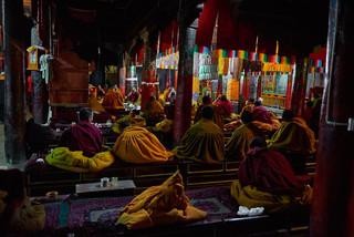 32. Praying session at Shalu Monastery.j