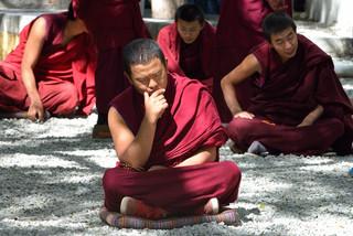 38.  Debating session at the Sera Monast