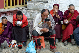 07. Pilgrims from Kanba in eastern Tibet.