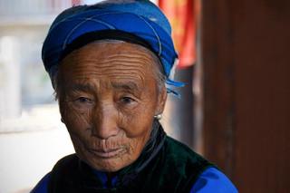 47. Bai woman at Shen Yuan Temple, Dali,