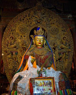 07. Buddha at the Pelkor Chode Monastery.