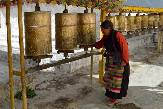 03. Prayer wheels at Tashilhunpo Monastry