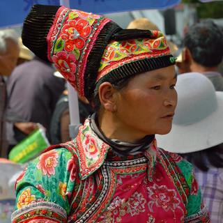 35. Tuli Yi minority woman, Weishan coun