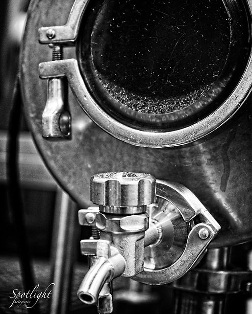 Endeavour brewing equipment- mash tank at close-up