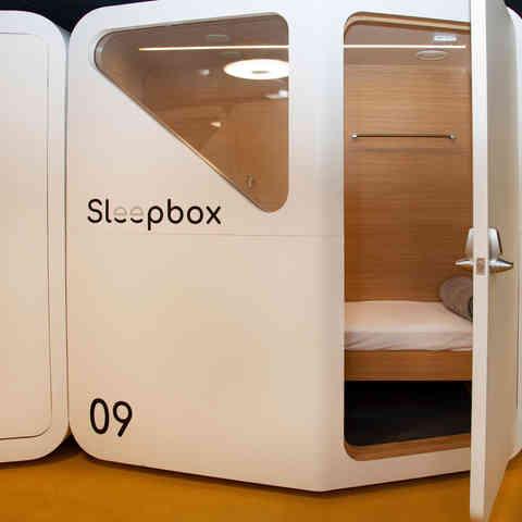 airport sleeping pod  /  SLEEPBOX
