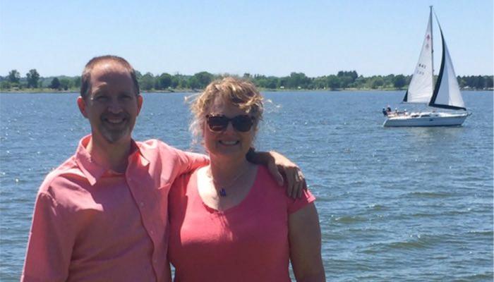 Kris and Brian at the lake