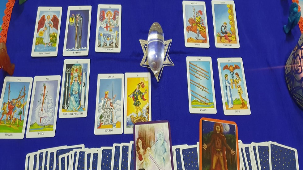 Tarot Cards Reading with Variety deck