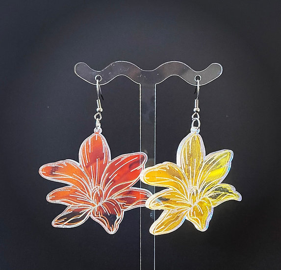 Translucent Lily Earrings
