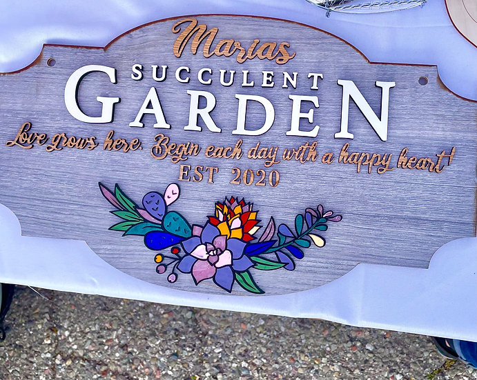 Succulent Garden Sign