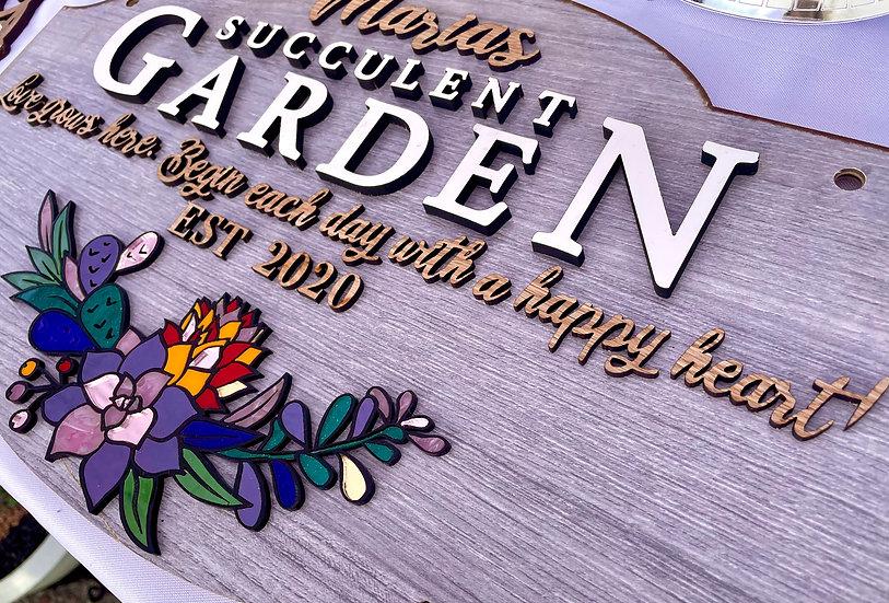 Succulent Garden Sign Digital File