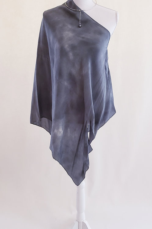 Shades of Gray Silk Wrap