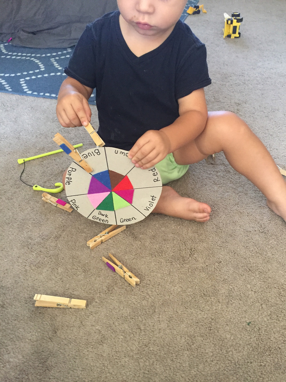 DIY, Color Wheel, Toddlers, Learning, Concepts, None Plus 5