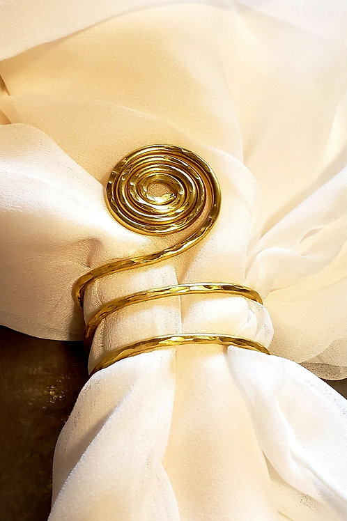 Circle of Life Napkin Ring in Gold