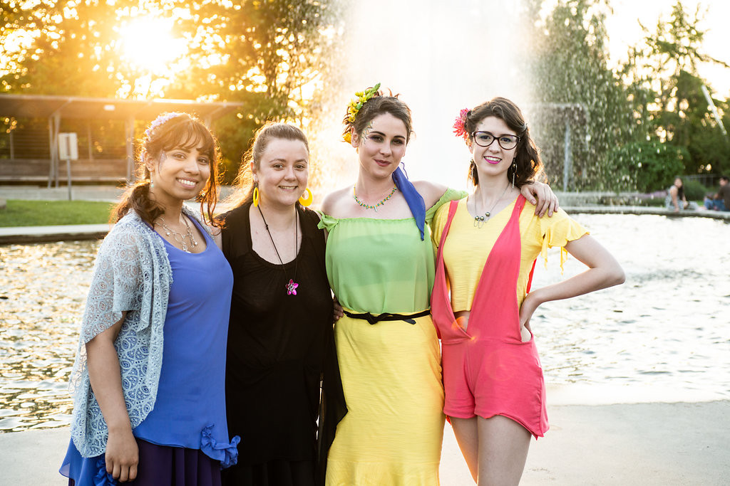 Spring/Summer 2018 Models with Designer Astrid Gwendolyn Jackson