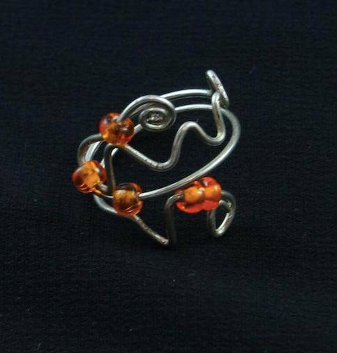 Silver and Saffron Ring